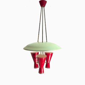 Italienische Hängelampe mit Leuchten in Diabolo Form von Stilnovo, 1950er