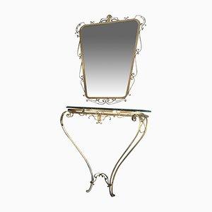 Konsolentisch & Spiegel von Pier Luigi Colli für Colli, 1950er
