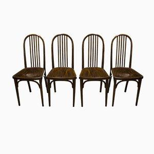 Vintage Nr. 639 Esszimmerstühle aus Buche von Josef Hoffmann für Thonet, 4er Set