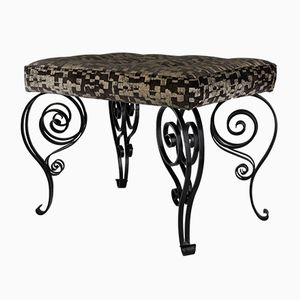 Wrought Iron Art Deco Bench