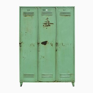 Green Vintage Factory Locker, 1970s
