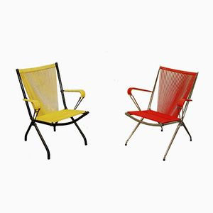 Scoubidou Chairs by André Monpoix, 1950s, Set of 2
