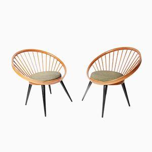 Circle Stühle von Yngve Ekström für Swedese, 1960er, 2er Set