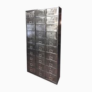 Vintage Metal Wardrobe with 30 Valves from Strafor