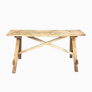 Gebleichte Vintage Werkbank aus Holz