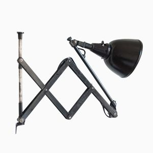 110 DRGM DRP Scissor Lamp with Aluminum Screen by Curt Fischer pour Midgard
