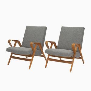 Holzstühle von Tatra Nábytok, 1965, 2er Set