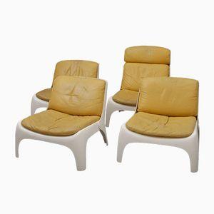 Easy Glasfaser Stühle, 1970er, 4er Set
