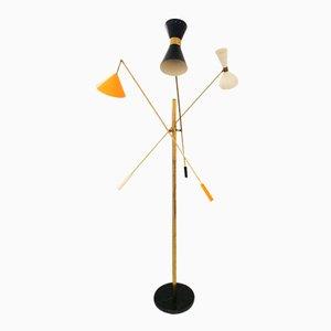 Bunte Italienische Vintage Stehlampe von Stilnovo