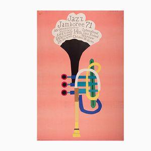 Jazz Jamboree Festival Poster von Henryk Tomaszewski für WAG, 1971