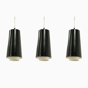 Mid-Century Scandinavian Pendants, 1960s, Set of 3