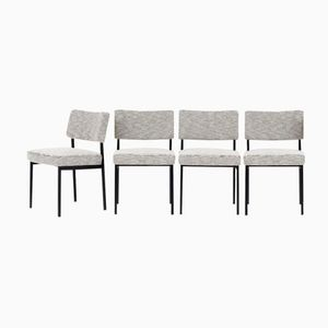French Chairs by Joseph André Motte for Steiner, 1960, Set of 4