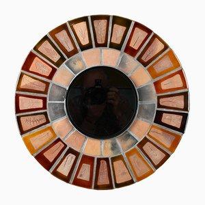 Runder Spiegel von Roger Capron, 1960er