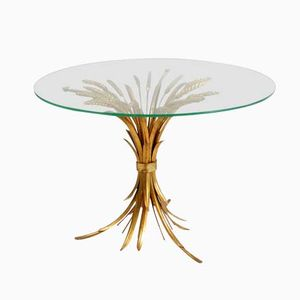 French Gilt Sheaf of Wheat Side Table, 1950s