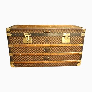 Checkered Steamer Trunk from Moynat, 1930s