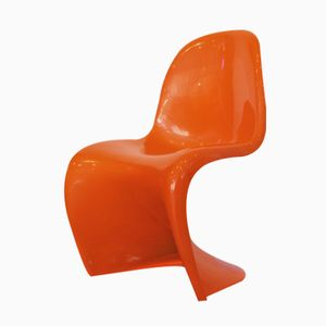 Orange Panton Chair by Verner Panton for Herman Miller, 1975