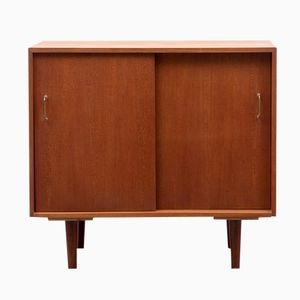 Teak Sideboard with Brass Handles, 1960s