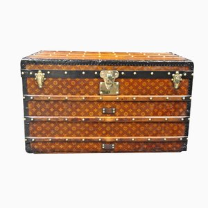 Woven Canvas Steamer Trunk from Louis Vuitton, 1900s