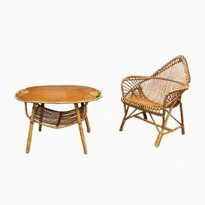 Vintage Rattan Lounge Set by Janine Abraham