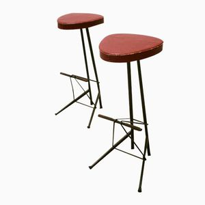 Belgian Bar Stools by Willy Van Der Meeren, 1956, Set of 2