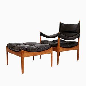 Mid-Century Modus Chair & Ottoman by Kristian Solmer Vedel for Søren Willadsen