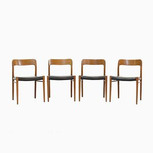 Mid-Century Danish Oak Dining Chairs by Niels Otto Moeller, 1960, Set of 4