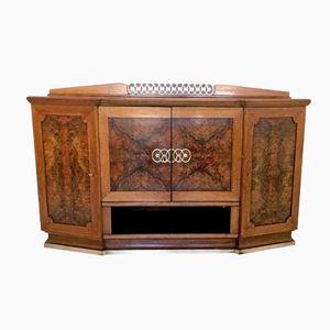 Vintage Walnut Bar Cabinet