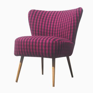 Mid-Century Purple & Black Cocktail Chair
