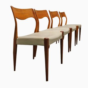 Model 77 Dining Chairs by Niels O. Møller for J. L. Møllers Møbelfabrik, 1959, Set of 4