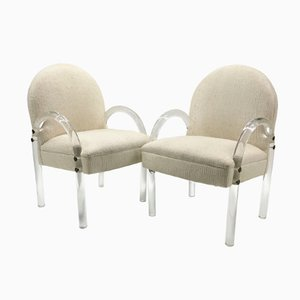 Vintage Lucite Armchairs from Pace Collection, Set of 2