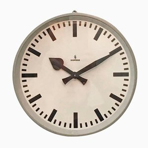 Factory Wall Clock from Siemens, 1950s