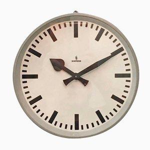 Horloge Murale d'Usine de Siemens, 1950s