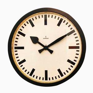 Grande Horloge de Gare Vintage Industrielle de Siemens