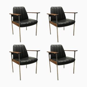 Mid-Century Armchairs by Sven Ivar Dysthe for Dokka, Set of 4