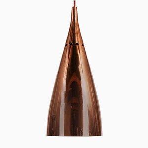 Mid-Century Copper Bell Pendant by J. T. Kalmar