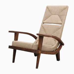 Vintage Scandinavian Rope Lounge Chair