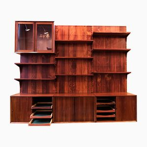 Vintage Rosewood Wall System by Poul Cadovius