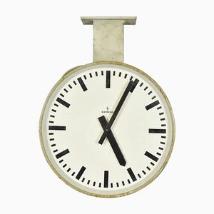 Double Faced Train Station Clock from Siemens & Halske, 1950s