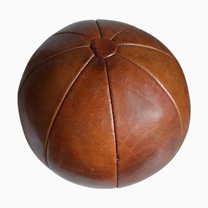 Vintage Leder Medizinball von Platura