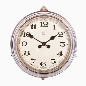 Art Deco Wall Station Clock from Bulle, 1920s