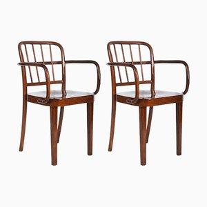 Esszimmerstühle von Josef Frank für Thonet, 1930er, 2er Set