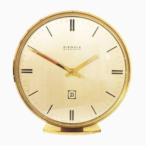 Horloge de Table Mid-Century en Laiton de Kienzle