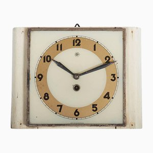 Czech Art Deco Wall Clock from Chomutov, 1930s