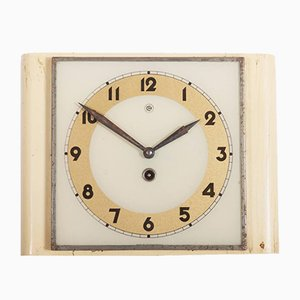 Art Deco Wall Clock from Chomutov, 1930s