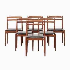 Vintage Scandinavian Teak Chairs, Set of 6