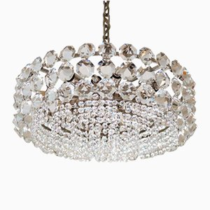 Vintage Large Crystal Glass Chandelier from Bakalowits & Sohne