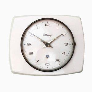 Horloge Murale Mid-Century en Céramique de Pollmann, 1950s