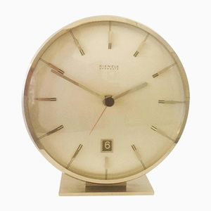 Mid-Century Chromed Everdate Table Clock from Kienzle