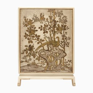 Vintage Chinoiserie Bar Cabinet