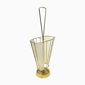 Mid-Century Italian Brass Umbrella Stand, 1960s